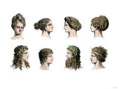 Choose an Elegant Waterfall Hairstyle For Your Next Event How To Do Ancient Greek Hairstyles For Wom Grecian Hairstyles, Roman Hairstyles, Greek Chiton, Ancient Greece Fashion, Waterfall Hairstyle, Historical Hairstyles, Greek Men, Ancient Greek Art, Greek Fashion