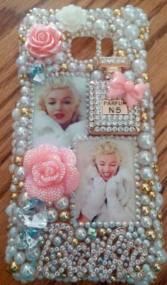Marilyn Monroe GOLD Handmade Iphone Phone Case Cover Bling 5 6 Plus Note 3 4 in Cell Phones & Accessories, Cell Phone Accessories, Cases, Covers & Skins Diy Phone Case, Iphone Phone Cases, Pretty Christmas Trees, Samsung Galaxy Phones, All Iphones, Cell Phone Covers, Pink And Gold, Marilyn Monroe, Handmade