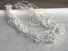 Paper Twine Crocheted Necklace by Linda Thalmann - a project in the All Things Paper book.
