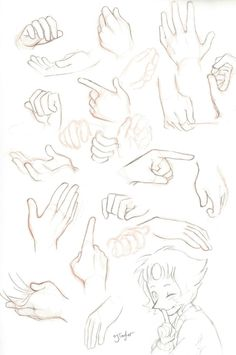 Drawing reference. Hands (and a little pearl) I can't recall the name of the tumblr artist that drew this and it's bugging me because I follow this guy/girl!!