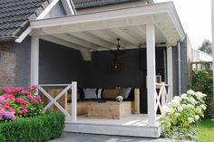 Landelijke terras overkapping - patio