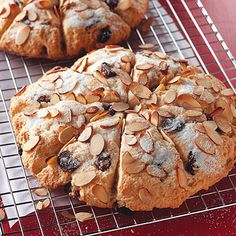 Sour Cream Cherry Scones- While not quite the same texture and taste of traditional cream scones, these were easy and tasty.  Cherries and almond extract can be substituted with apricots and vanilla.