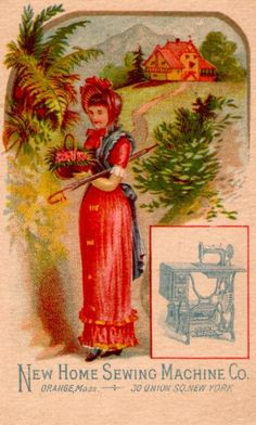 New Home.....Sewing Machines.....Victorian Trade Card.