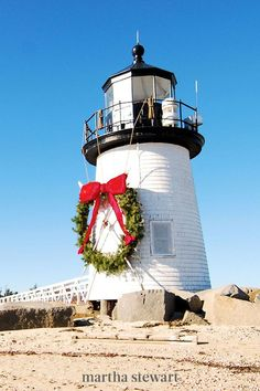 People love this coastal town as a summer attraction, but it's just as great in the winter. In December, Nantucket residents invite visitors to join them for the town's annual Christmas Stroll. Sip wine, listen to carolers and check out hundreds of Christmas trees. #christmas #holidayideas #christmasideas #wintertodo #marthastewart Christmas Town, Christmas Trees, Holiday Lights, Christmas Lights, Snowy Weather, Visit Santa, Christmas Wonderland, Old Farm Houses, Tree Lighting