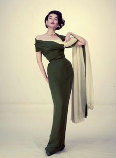 1954. I know she's a model, but clothes used to make a figure look enhanced!