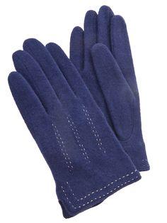 Trinity Woll Handschuhe marineblau