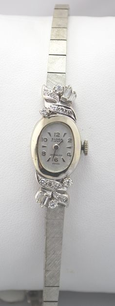 This one is gorgeous, white gold Antique with diamond Eloga Watch.