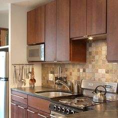 Kitchen Backsplash - another one that might go with our flooring.