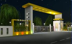 Plots in Sarjapur Road Bangalore:--Looking where to invest your money? Plots for Sale in Sarjapur Road, Bangalore! Buy plots in Sarjapur Road from NBR Developers today! Make a smart investment! Gate Wall Design, Front Gate Design, Main Gate Design, House Gate Design, Duplex House Design, Gate House, House Front Design, Entrance Design, Gate Designs Modern