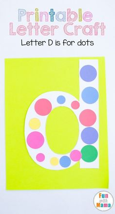This printable letter d craft for kids, preschoolers and toddler includes a d dots template art project for uppercase letter d. Alphabet Activities, Letter D Activities, Preschool Activities, Homeschool Activities Preschool Letter Crafts, Alphabet Letter Crafts, Abc Crafts, Alphabet Activities, Preschool Crafts, Preschool Activities, Crafts For Kids, Letter Tracing, Alphabet Book