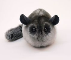 Smokey the Grey Chinchilla Stuffed Plush Toy