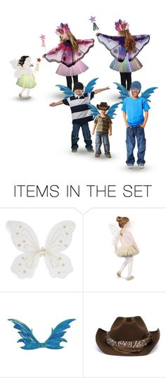 """""""When All the Food Was Cleared Nadine Gave the 3 Girls Fairy Wings, Tutus & Wands, & the Younger Boys Dragon Wings…Giggling & Chasing Ensued, as Expected, But Behavior Was Generally Controlled…Tomas Was on the Cusp, But Decided to Decline the Wings"""" by maggie-johnston ❤ liked on Polyvore featuring art"""