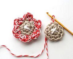 Jenny Doh - hemp crochet flowers