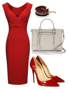 """professional business woman"" by cicisquared on Polyvore featuring Christian Louboutin, Rebecca Minkoff and MANGO"