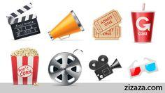 Icon set - Iconset: Movie - Zizaza item for free