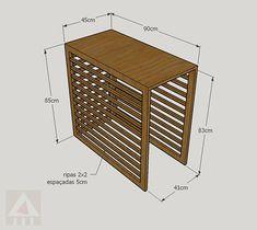Tv Unit Furniture, Diy Furniture, Air Conditioner Cover Outdoor, Gate Design, House Design, Diy Radiator Cover, Ac Unit Cover, Heating And Air Conditioning, Laundry Room Design