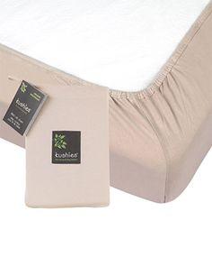 Kushies Organic Jersey Fitted Crib Sheet - Mocha
