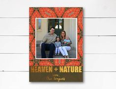 Heaven + Nature Christmas Card, Christmas Photo Card, Holiday Photo Card, Scripture Christmas Card, Gold Foil Card, DIY or Printed by NOLALOULOU on Etsy