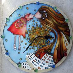 "Gallery.ru / ""Музыка города"", диаметр 30 см. - Работы на продажу - enehi"