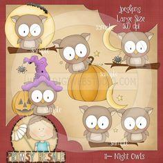 Night Owls 1 - Clip Art by Primsy Doodle Designs