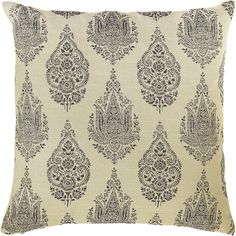 Rambagh Palace, once the private sanctuary of a maharaja and now one of the world's most exclusive hotels, provided inspiration for the ornate design of our decorative pillow. Sitting atop an ivory background, the symmetrical print conveys a sense of elegance you can add to your own abode. Thankfully, we've made sure rich isn't reserved solely for the royals these days.