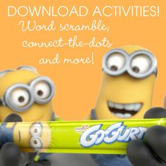 Download this #DespicableMe2-themed activity sheet with a word scramble, connect-the-dots and more to keep the minions busy! https://d3hok70xjqsuiy.cloudfront.net/assets/prod/10387/1372367582463_ActivitySheetLORES_edited1.pdf