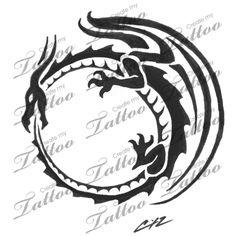 Marketplace Tattoo Western ouroboros #6214 | CreateMyTattoo.com