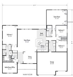 single story ranch style house plans ranch house floor plans open ...