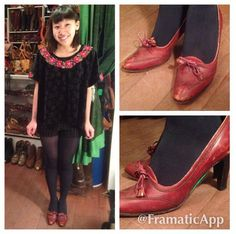 Charlotte loves these high heel loafers from the shop! She was thrilled to find 2 pairs of shoes in her size! #vintage #cutecustomer #happycustomer #highheels #highheelloafers #tassles #wingtips #echopark #eaglerock #silverlake #losfeliz #losangeles #atwater #highlandpark #hollywood #lemonfrogshop