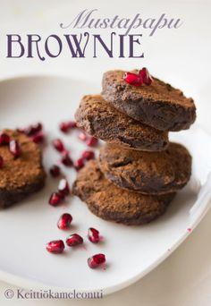 Semi Raw Black Bean Brownies - Iisit Mustapapu Browniet (gluteeniton) | Keittiökameleontti