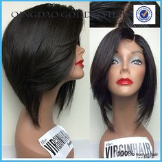 Lace front bob wig virgin peruvian human hair short straight wigs bleached knots side part for black women full lace bob wig