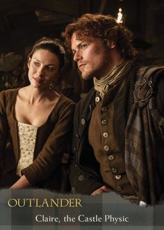 Caitriona Balfe and Sam Heughan as Claire and Jamie Fraser (Outlander) Jamie Fraser, Claire Fraser, Jamie And Claire, Diana Gabaldon, Gabaldon Outlander, Sam Heughan Outlander, Outlander Season 1, Outlander Tv Series, Outlander Quotes