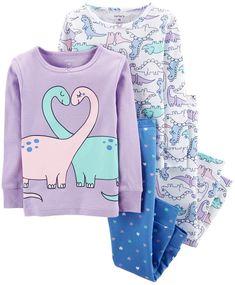 16bc01a3cb Carter s Toddler Girl Dinosaurs  amp  Hearts Tops  amp  Bottoms Pajama Set Girls  Pajamas