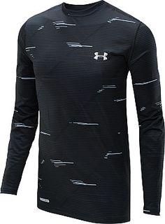 UNDER ARMOUR Men's Evo ColdGear Infrared Printed Long-Sleeve Shirt #giftofsport