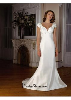Beautiful Elegant Exquisite Satin Mermaid/trumpet Wedding Dress In Great Handwork