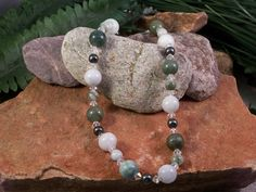 Shades of Green Jade Necklace! obsessionjewelry.com