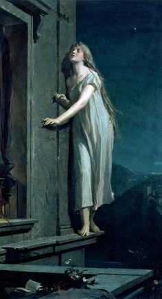 Maxmilian Pirner - The Sleepwalker, 1878. Prague.