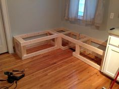 How to Make a Custom Breakfast Seating Nook - Snapguide                                                                                                                                                                                 More
