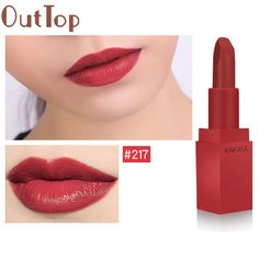 OutTop Hot Sexy Colors Waterproof Mist Face Silk Velvet Lipstick Matte Lipstick Lasting Makeup Tool Lip Paint 2017 July13 #Affiliate