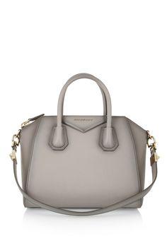 Givenchy|Small Antigona bag in mushroom leather|NET-A-PORTER.COM