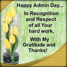Happy Administrative Professionals Day Card