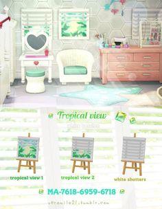 Animal Crossing Online, Animal Crossing 3ds, Tropical Windows, Pink Island, Motif Acnl, Tropical Animals, Motifs Animal, Tropical Design, Light Beam