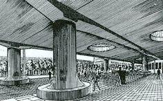 Tony Garnier - Cité industrielle - Pilotis [web520] Tony Garnier, Rationalism, Museum, French, Classic, Collection, Design, Architecture, Modernism