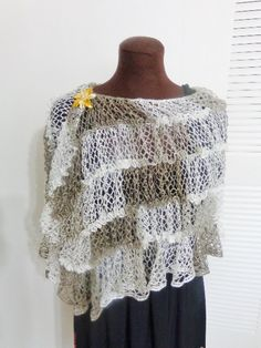 Crochet Sashay mesh yarn lightweight shawl by FAYSFABULOUSCROCHET, $40.00