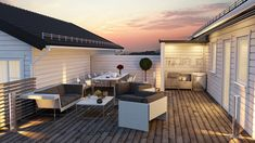 53 Top-of-the-World Rooftop Patio Ideas (Photos) A rooftop patio with a natural hardwood deck, contemporary furniture, and a small outdoor kitchen tucked into a nook. Small Outdoor Kitchens, Build Outdoor Kitchen, Outdoor Dining, Rustic Kitchen Design, Outdoor Kitchen Design, Kitchen Designs, Mr T, Terrasse Design, Hardwood Decking