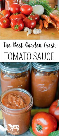 This is the PERFECT marinara sauce for using garden fresh tomatoes! Sweet, simpl… This is the PERFECT marinara sauce for using garden fresh tomatoes! Sweet, simple, with a high yield, and a flavor that tastes fresh! Let the slow cooker do all the work! Preserving Tomatoes, Canning Tomatoes, Tomato Canning, Canning Jars, Marinara Sauce, Tomato Sauce, Canning Food Preservation, Canning Vegetables, Canning Recipes