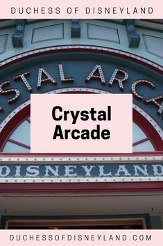 Ignore the Crystal Arcade's name; it's actually a giant toy store! The arcade sells a huge selection of plushies, tsum tsums, toys, and small accessories. Disneyland Main Street, Disney Stores, Toy Store, Cool Toys, Arcade, Entrance, Crystals, Usa, Entryway