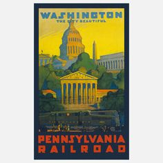 PA Railroad DC Print 18x24 now featured on Fab.