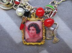 Audrey Horne Twin Peaks inspired charm by TheHoneyBeeCrafts Indian Headpiece, Mini Picture Frames, Audrey Horne, Chevron Paper, Custom Charms, New Charmed, Red High Heels, Rich Girl, Twin Peaks