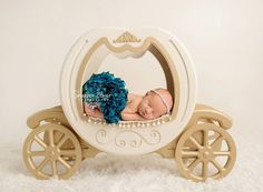 DOUBLE SIDED - Princess Carriage Prop, Carriage Prop, Cinderella Prop, Newborn Photo Prop, Newborn Photography Prop